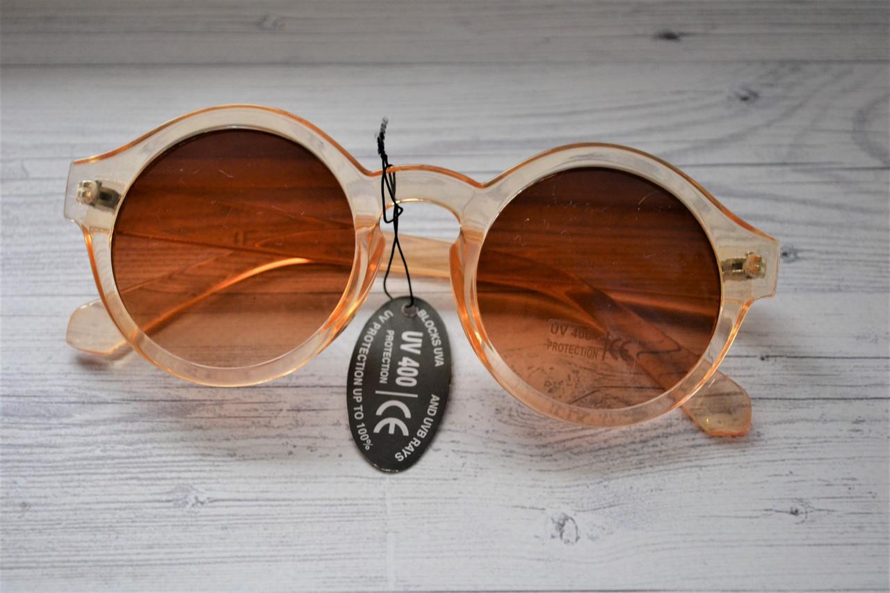 Солнцезащитные очки круглые  шампань