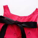 Детское летнее платье с принтом, лента на спине, фото 2