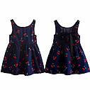 Детское летнее платье с принтом, лента на спине, фото 5
