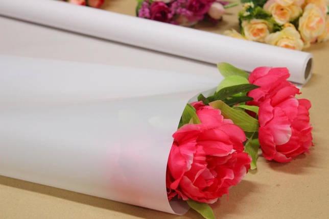 Калька для упаковки цветов в рулоне Белая №20 непрозрачная 0,7×10 м, фото 2