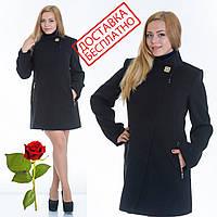 Кашемировое пальто приталенного силуэта с воротником стойкой L 069001 Черный, фото 1