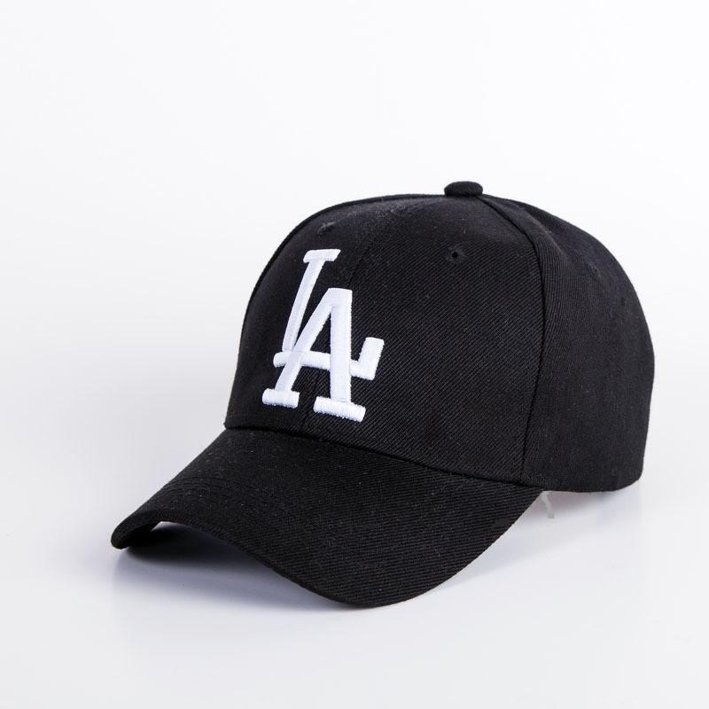 Кепка бейсболка в стиле LA (Лос-Анджелес), Унисекс Черный