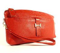 Кошелек-клатч кожаный (под Hermes) красный, расцветки в наличии