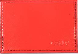 Обложка для банковской карточки цвет красный