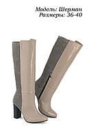 Сапоги кожаные с ровным голенищем, фото 1