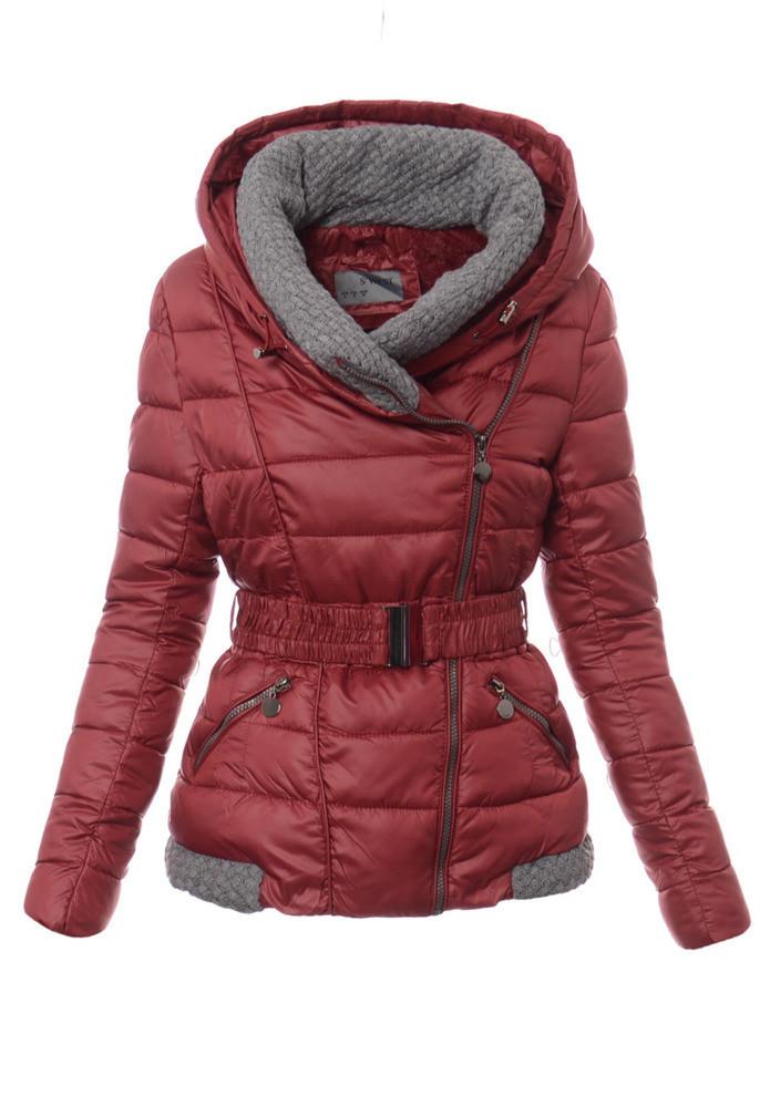 Женский зимняя куртка с серыми вставками XL-XXL