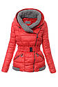 Женский зимняя куртка с серыми вставками XL-XXL, фото 2