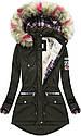 Парка куртка  женская зимняя клетка №2, фото 3