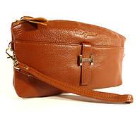 Кошелек-клатч кожаный (под Hermes) коричневый, расцветки в наличии