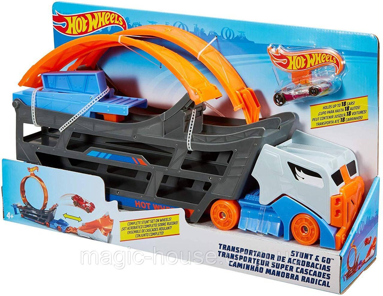 Трек Хот ВилсАвтовоз с петлей Hot Wheels Stunt n' Go Track Set