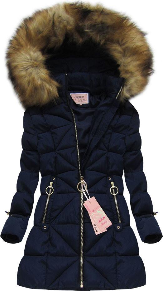 Удлинённый стёганый женский зимний пуховик с капюшоном №4