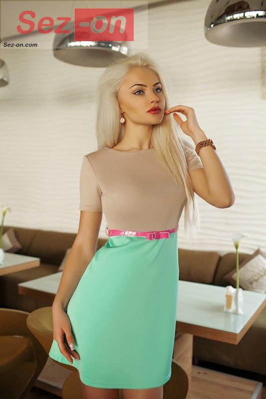 Сукня жіноча коротке ― Бірюзовий