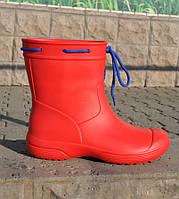 Сапоги демисезонные женские из пены, красные, без утеплителя. Размеры 36, 37, 38, 39, 40, 41. JoAm 119220.
