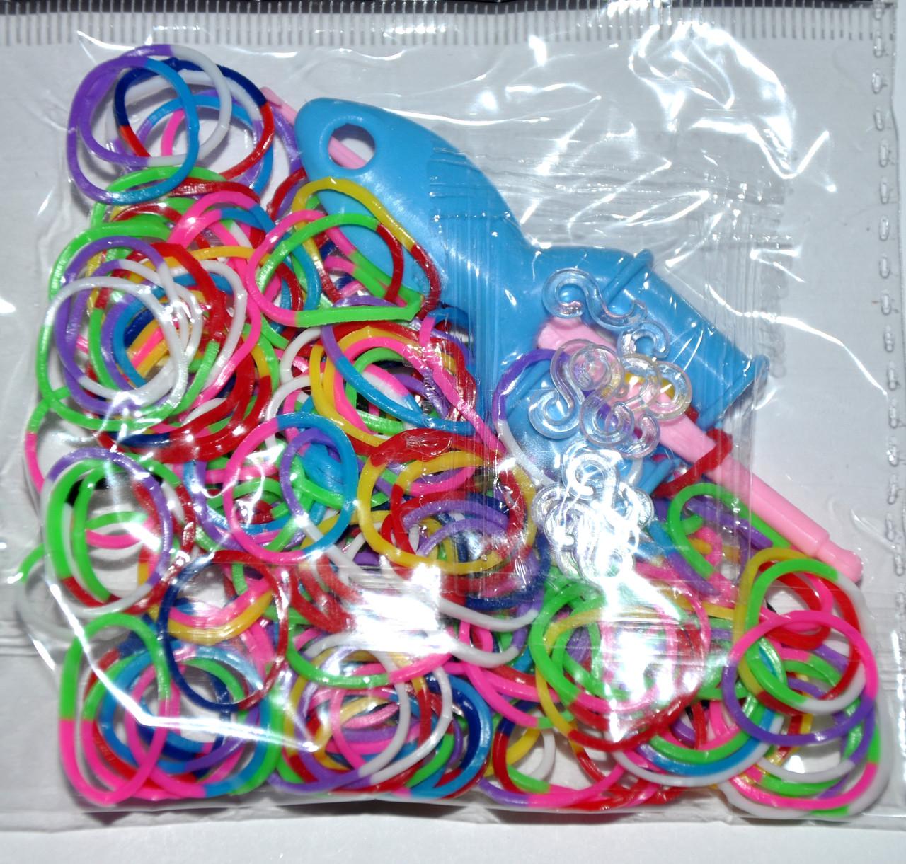 Гумки для плетіння - двоколірні (12 пакетиків)