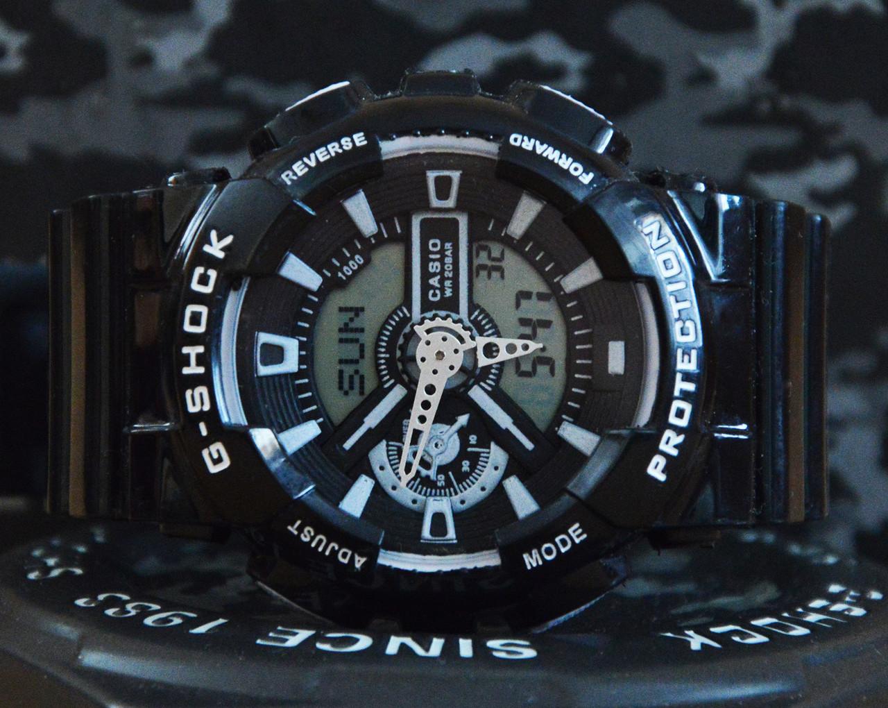 Спортивные часы Casio G-Shock GA 110 черные с белым