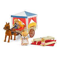 """Карета """"Счастливая Семья"""" 012-06, 3 фигурки, карета, лошадь"""
