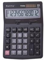 Калькулятор настольный Optima О75503, 12-ти разрядный
