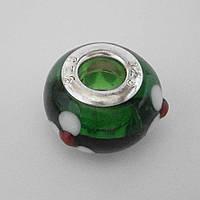 Бусина Pandora (Пандора) в зеленом цвете P4260805, фото 1
