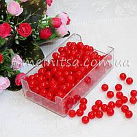Бусины красные, 8 мм (50 шт)