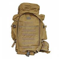 Тактический военный рюкзак 9.11 с отделением под карабин Койот