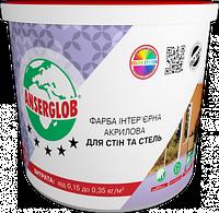 Краска интерьерная ANSERGLOB акриловая для стен и потолка (15 кг)