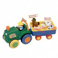 Игрушка на колесах трактор с трейлером