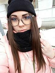 Имиджевые очки  круглые с  прозрачной линзой анти блик