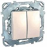 Выключатель 2-кл. проходной, сл.кость. Unica MGU3.213.25, фото 2