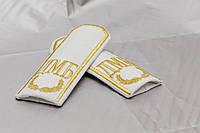 Погоны с вышивкой (ДМБ) белый