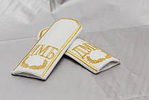 Погони з вишивкою (ДМБ) білий (пара)