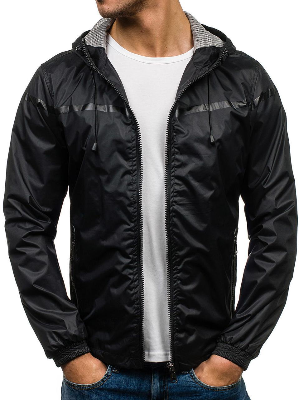 Мужская  спортивная демисезонная куртка ветровка 2 цвета
