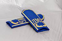 Погоны с вышивкой (ДМБ) синий