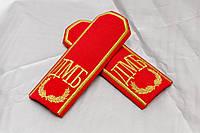 Погоны с вышивкой ДМБ красные