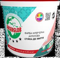 Краска интерьерная ANSERGLOB акриловая стойкая к мытью (7,5кг)