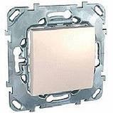Кнопковий вимикач 1-кл., сл. кость. Unica MGU3.206.25, фото 2