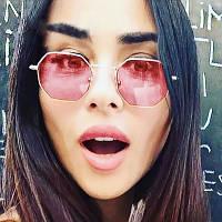 Солнцезащитные многоугольные очки  с цветной линзой