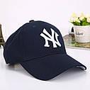 Кепка бейсболка в стиле NY (Нью-Йорк) Серая, Унисекс, фото 4