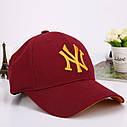 Кепка бейсболка в стиле NY (Нью-Йорк) Серая, Унисекс, фото 6