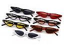 Стильные очки солнцезащитные  маленький треугольник Черный с красным, фото 5