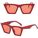 Очки женские солнцезащитные  с острыми краями Черный, фото 5