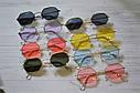Солнцезащитные многоугольные очки  с цветной линзой Желтый, фото 4