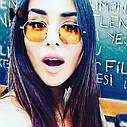 Солнцезащитные многоугольные очки  с цветной линзой Желтый, фото 9