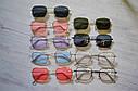 Солнцезащитные очки прямоугольные с цветной линзой Серый, фото 9