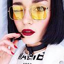Солнцезащитные очки прямоугольные с цветной линзой Серый, фото 10