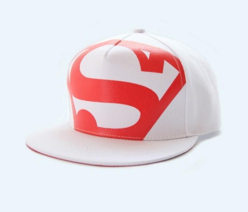 Кепка снепбек S супермен с прямым козырьком Белая, Унисекс