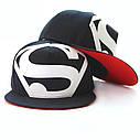Кепка снепбек S супермен с прямым козырьком Белая, Унисекс, фото 4