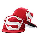 Кепка снепбек S супермен с прямым козырьком Белая, Унисекс, фото 5