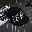 Кепка снепбек Import Export с прямым козырьком, Унисекс, фото 2