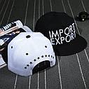 Кепка снепбек Import Export с прямым козырьком, Унисекс, фото 4