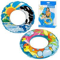 Круг на море, в бассейн, красочная расцветка с рисунками, 58245, однокамерный, 61см, 6-10лет, плавсредство